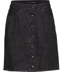 black denim pencil skirt kort kjol svart scotch & soda