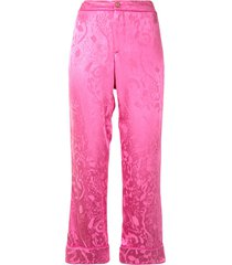 alexis desna pajama-style trousers - pink