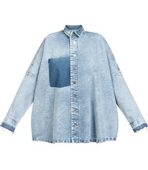 now quilted jeans shirt