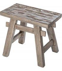 hocker stołek hemingway szary mahoń 50cm