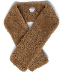 teddy shearling scarf