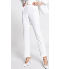 river island womens cream high belted waist tapered trousers