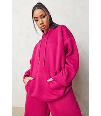 basic oversized hoodie, pink