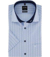 korte mouwen shirt lichtblauw olymp modern fit