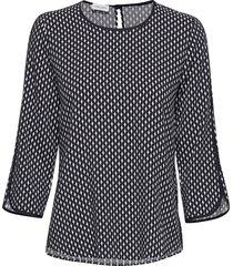 blouse 3/4-sleeve blouse lange mouwen blauw gerry weber