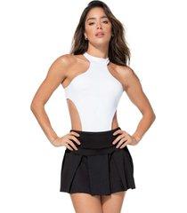 falda poliéster talla única-1 negro básico