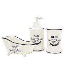 kit banheiro escova dente sab liquido 157561- 3 peças