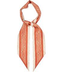 geometric-print silk-twill scarf