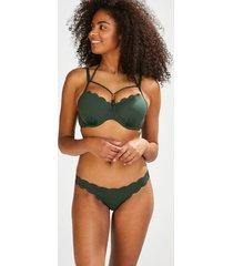 hunkemöller fräck bikiniunderdel scallop glam grön