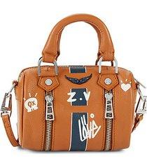 mini striped leather crossbody bag