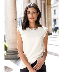 topp med kedja alba moda vit