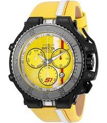 reloj invicta 28400 amarillo cuero hombre