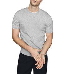 men's reiss romer slim fit short sleeve pullover