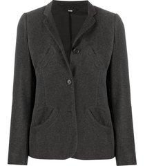 helmut lang pre-owned 2000s skinny lapels blazer - grey