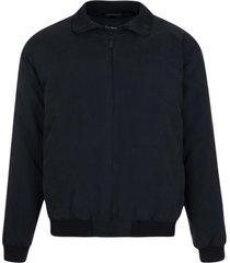 jaqueta suede com manta e forro fake fur preta - preto - masculino - dafiti