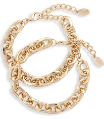 8 other reasons x jenn im cusp set of 2 bracelets in gold at nordstrom