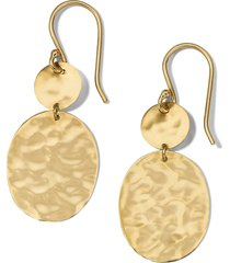 ippolita classico hammered circle & oval drop earrings in yellow gold at nordstrom