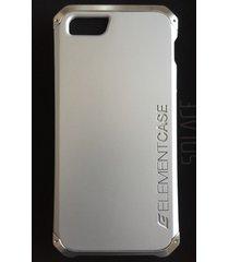 element case solace iphone se/5s/5 case silver with aluminum crowns msrp $79.95