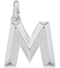 alphabet pendant m, sterling silver