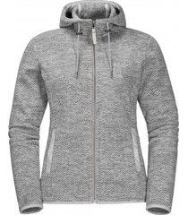 jack wolfskin vest women patan hooded jacket grey haze