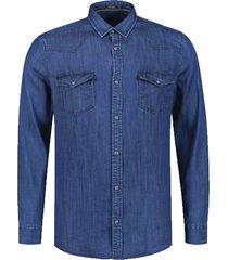 dstrezzed overhemd jeanslook katoen mf 303383/640