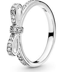 anel de prata laço