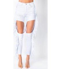 akira don't lose sight high waist distressed fringe jeans