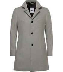 holger compact melton coat wollen jas lange jas grijs j. lindeberg