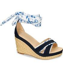 sandalias de plataforma azul bata fida mujer