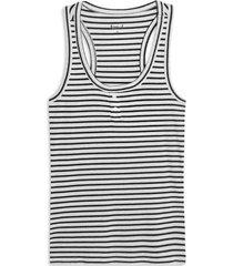 camiseta mujer m/s rayas delgadas color negro, talla l