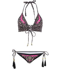 bikini all''americana (set 2 pezzi) (beige) - rainbow