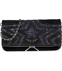 rock star glitter shoulder bag