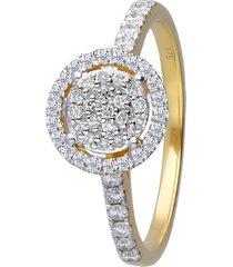 anello in oro giallo con diamanti 0,308 ct per donna