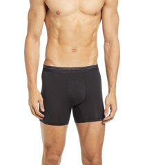 rhone essentials boxer briefs, size medium in black at nordstrom