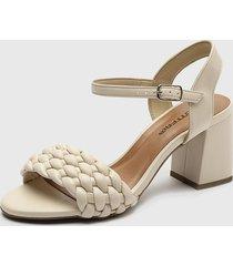 sandalia cuero beige bottero