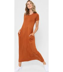 vestido marrón chelsea market sofii largo
