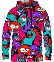 damska bluza z kapturem dr.crow colorful monsters