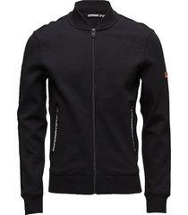 gym tech bomber sweat-shirt trui zwart superdry sport