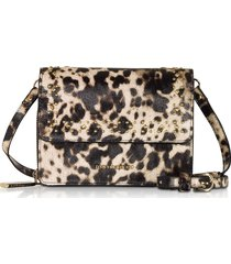 roccobarocco pretzel small shoulder bag w/detachable wallet
