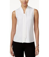kasper petite tie-neck blouse