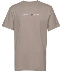 tjm straight small l t-shirts short-sleeved grå tommy jeans