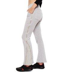 pantalón de buzo everlast script gris - calce regular