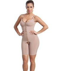 cinta body modelador compressão macaquinho com perna esbelt feminino - feminino