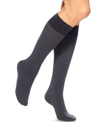 hue women's soft opaque knee high trouser socks