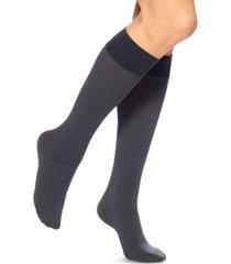 hue women's soft opaque knee high trouser socks
