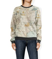 antique united states map sweatshirt