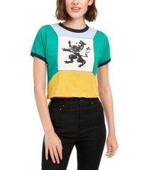 artistix cotton colorblocked graphic t-shirt