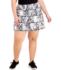 ideology snake-print tiered a-line skort, created for macy's