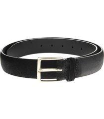 man black 3.5cm suede cloudy belt
