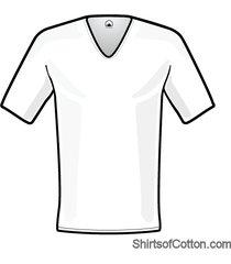 shirtsofcotton t-shirt wit diepe v-hals 2-pack